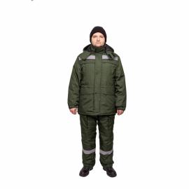Костюм утепл. зеленый К-720 Север с п/к